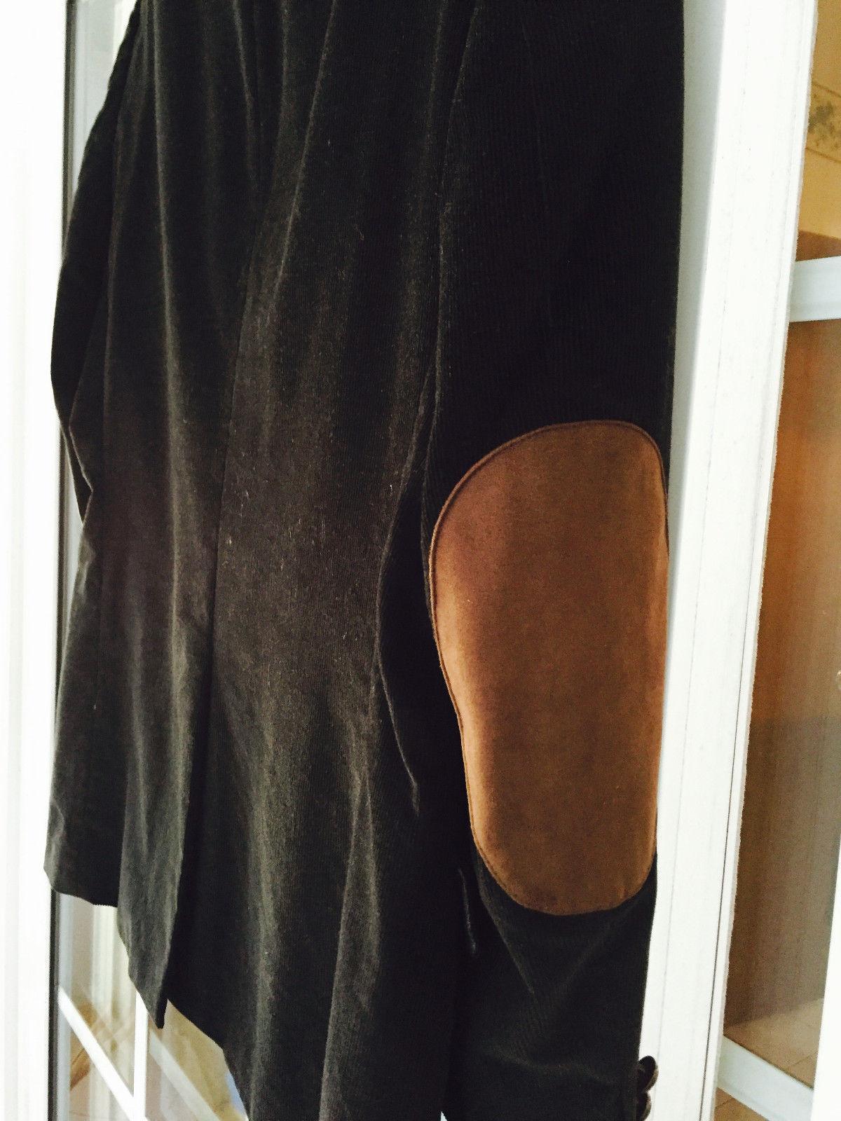 Ralph Lauren Black Corduroy Jacket With Suede Elbow Patches Regular 41 BlazerEUC