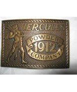 Hercules 1912 Powder Company 1978 sp edition bronze belt buckle  up to 2... - $22.76
