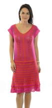 NWT! S Nanette Lepore Orange & Pink Cap Linda Knit Dress w/Lace Trim 741... - $207.79 CAD