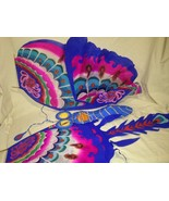 Pair of Chinese Handmade Kites - Bird and Butterfly - $19.55