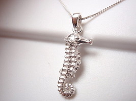 Seahorse Necklace 925 Sterling Silver Corona Sun Jewelry ocean beach san... - $14.97