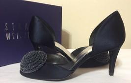 Stuart Weitzman Lollsini Navy Satin Women's Dressy Evening Heels Pumps S... - $156.42