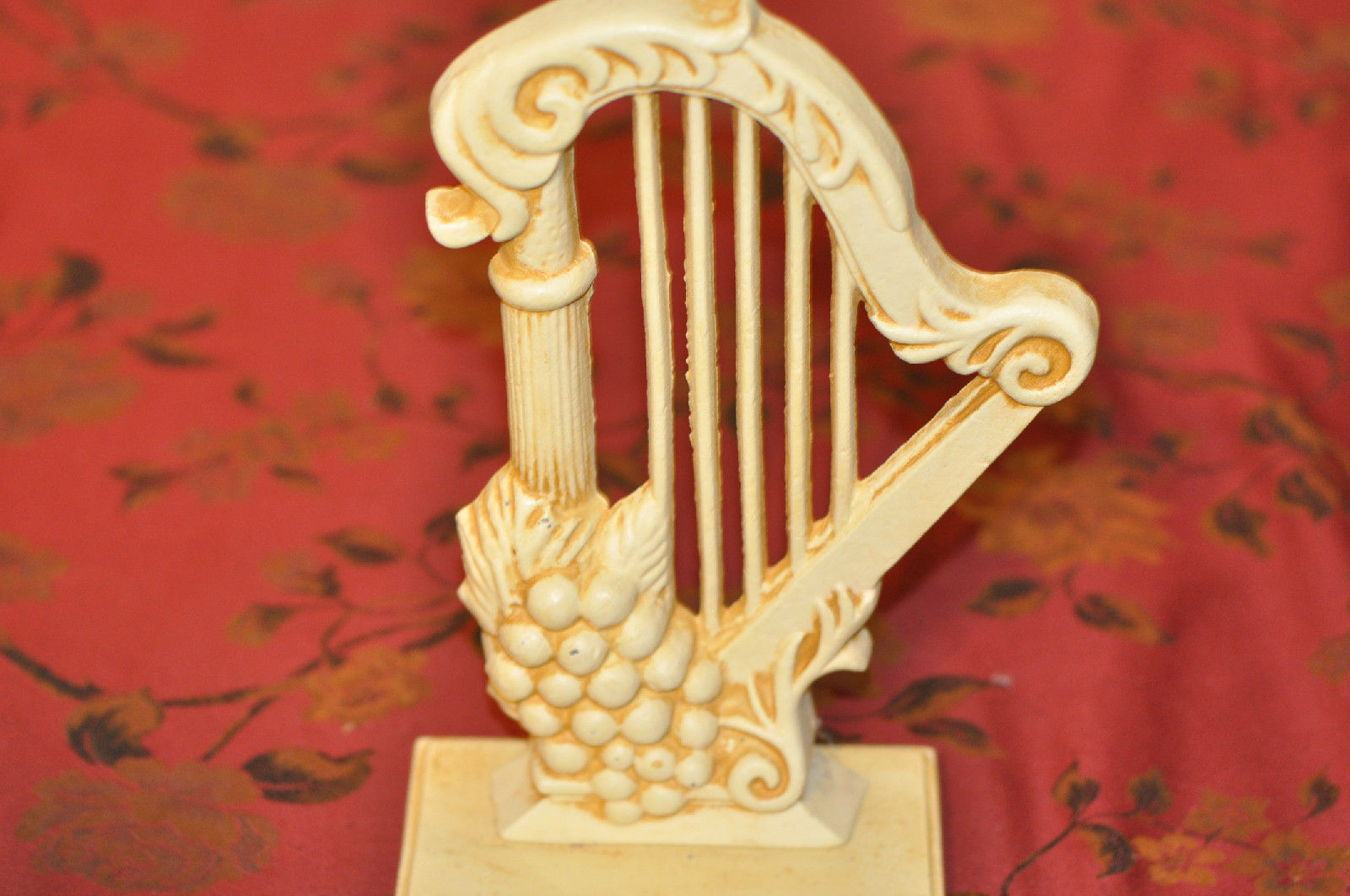 Metal Harp & Grapes Wall Decor Cast Iron for and 50 similar items