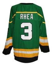 Custom Name # St John's Shamrocks Retro Hockey Jersey New Green Rhea #3 Any Size image 2