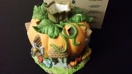 Partylite P7316 Harvest Pumpkin Painted Porcelain Tealight Candle Holder -Defect - $38.00