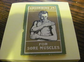 1920s poster stamp ABSORBINE JR. - $10.99