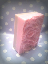 raspberry and coffee goats milk glycerin soap - $5.00