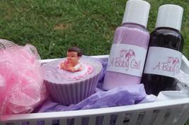 lavender baby girl soap lotion bath set - $15.00