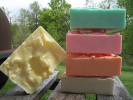 goats milk bath and body soaps. pack of 5, soap, bath, beauty, glycerin soap, ha - $25.00
