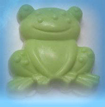 frog soap, kids soap, handmade soap, glycerin soap, stocking stuffer, un... - $4.50