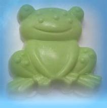 frog soap, kids soap, handmade soap, glycerin soap, stocking stuffer, unique soa - $4.50