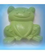 frog soap, kids soap, handmade soap, glycerin soap, stocking stuffer, un... - $4.50