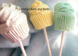 cupcake soaps on a stick, cupcake soap, soap, b... - $3.50