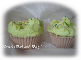 mint chocolate party cupcake soaps. set of 2 - $8.00