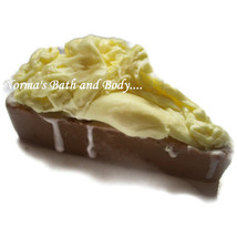 juicy lemon and chocolate kids pie goats milk soap - $4.99