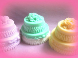 Wedding cake Soaps. Bulk wholesale set of 50, wedding soap, wedding favo... - $125.00