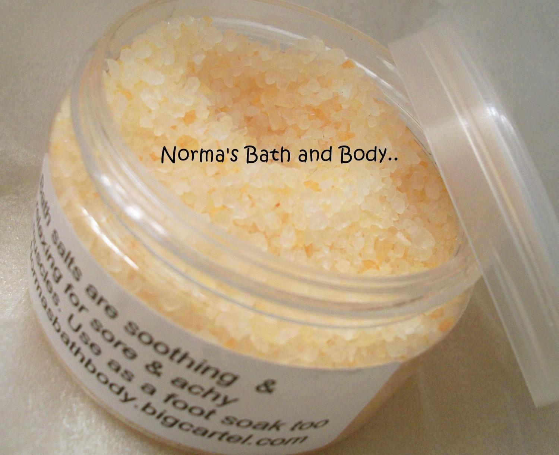 banana bath salt, sea salt, beauty, gifts, handmade bath salt, banana, bath - $8.00