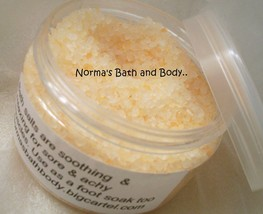 banana bath salt, sea salt, beauty, gifts, hand... - $8.00