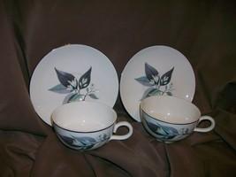 Rhythm By Homer Laughlin 2 Teacups + 2 Saucers - $14.84
