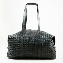 VINTAGE Fendi Gray Crocodile Leather Top Handle Duffel Bag - $650.00