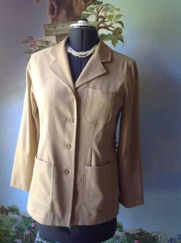 Casual Corner Annex Petite Beige Blazer Suit Jacket SZ 8