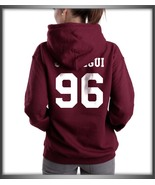 Jauregui 96 White ink on back Lauren Jauregui MAROON hoodie S to 3XL - $31.00+
