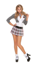 Sexy Elegant Moments Queen Of Detention School Girl Costume S-L 1X/2X 3X... - $43.99