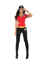 Sexy Elegant Moments High Octane Honey Nascar Race Car Driver Costume S-... - $41.99