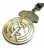 REAL MADRID fc Official Football Club Metal Badge Keyring Key Chain Socc... - $7.50