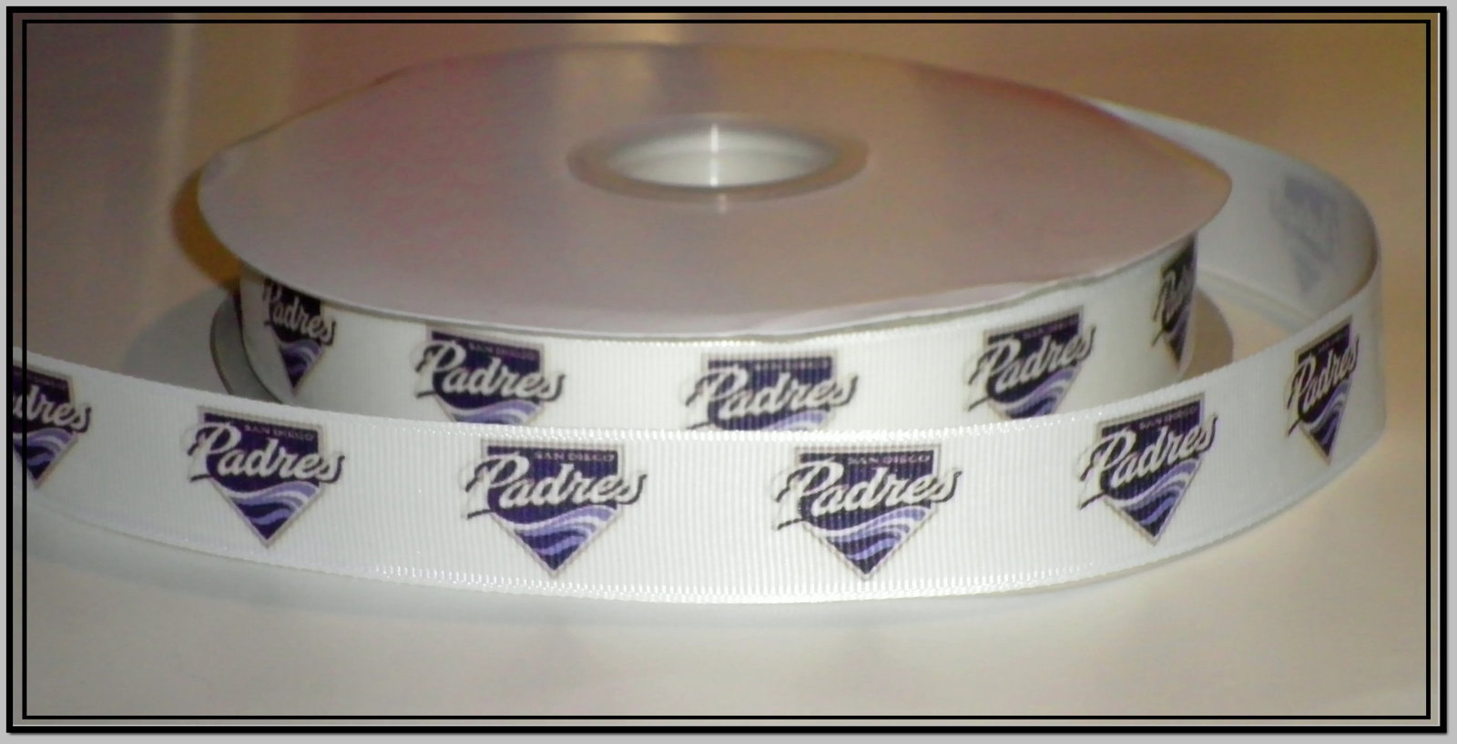 San Diego Padres Inspired Grosgrain Ribbon for sale  USA