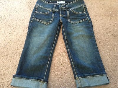 Primary image for NWoT jr junior so  new Roll Cuff Denim Capri Jeans 0