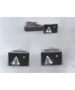 Apollo Command Module Cuff Links and Tie Tack Set Same set in Smithsonian - $8,500.00