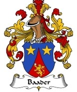 Baader Family Crest / Coat of Arms JPG or PDF Image Download - $6.99