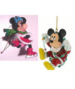 DISNEY MICKEY MOUSE & MINNIE MOUSE  Vintage Collectible Christmas Tree O... - $49.99