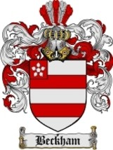 Beckham Family Crest / Coat of Arms JPG or PDF Image Download - $6.99