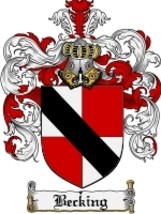 Becking Family Crest / Coat of Arms JPG or PDF Image Download - $6.99