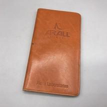 Vintage Alcoa Leather Wallet Billfold Checkbook Holder Advertising - $19.79