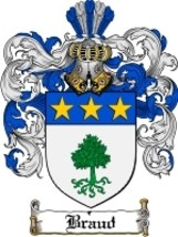 Braud Family Crest / Coat of Arms JPG or PDF Image Download - $6.99