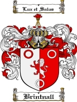Primary image for Brintnall Family Crest / Coat of Arms JPG or PDF Image Download