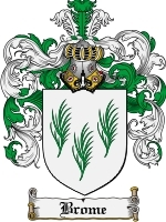 Primary image for Brome Family Crest / Coat of Arms JPG or PDF Image Download