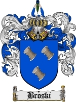 Primary image for Broski Family Crest / Coat of Arms JPG or PDF Image Download