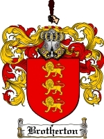 Primary image for Brotherton Family Crest / Coat of Arms JPG or PDF Image Download