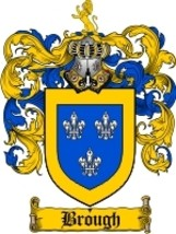 Brough Family Crest / Coat of Arms JPG or PDF Image Download - $6.99