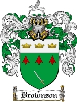Primary image for Brownson Family Crest / Coat of Arms JPG or PDF Image Download