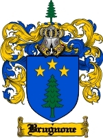 Primary image for Brugnone Family Crest / Coat of Arms JPG or PDF Image Download