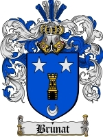 Primary image for Brunat Family Crest / Coat of Arms JPG or PDF Image Download