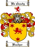 Primary image for Bucher Family Crest / Coat of Arms JPG or PDF Image Download
