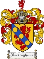 Primary image for Buckinghame Family Crest / Coat of Arms JPG or PDF Image Download