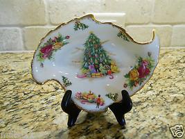 Royal Albert Bone Christmas Magic Leaf Shaped Candy Dish - $31.63