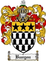 Primary image for Bunyon Family Crest / Coat of Arms JPG or PDF Image Download